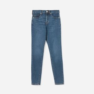 Everlane Stretch Mid Rise Blue Ankle Skinny Jeans